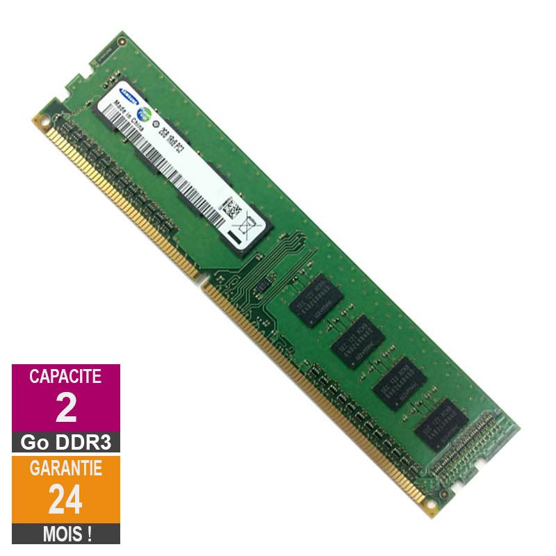 Barrette Mémoire 2Go RAM DDR3 Samsung...
