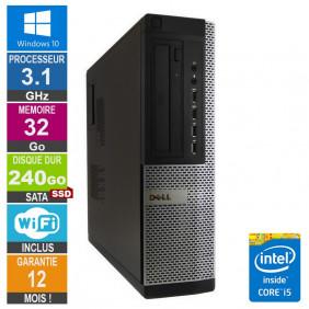 PC Dell Optiplex 9010 DT i5-2400 3.10GHz 32Go/240Go SSD Wifi W10