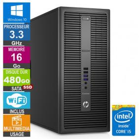 PC HP EliteDesk 800 G2 TWR i5-6400 3.30GHz 16Go/480Go SSD Wifi W10