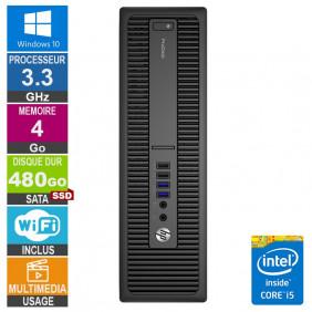 PC HP ProDesk 600 G2 SFF i5-6400 3.30GHz 4Go/480Go SSD Wifi W10