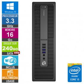 PC HP ProDesk 600 G2 SFF i5-6400 3.30GHz 16Go/240Go SSD Wifi W10