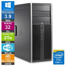 PC HP Elite 8300 CMT i7-3770 3.90GHz 32Go/2To Wifi W10