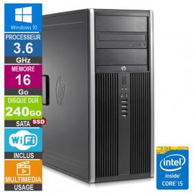 PC HP Elite 8300 CMT i5-3470 3.60GHz 16Go/240Go SSD Wifi W10