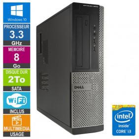 PC Dell Optiplex 3010 DT i3-3220 3.30GHz 8Go/2To Wifi W10
