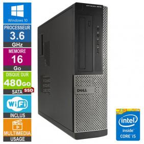 PC Dell Optiplex 3010 DT i5-3470 3.60GHz 16Go/480Go SSD Wifi W10