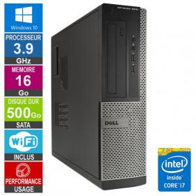 PC Dell Optiplex 3010 DT i7-3770 3.90GHz 16Go/500Go Wifi W10