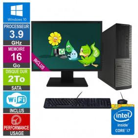 PC Dell Optiplex 3010 DT i7-3770 3.90GHz 16Go/2To Wifi W10 + Ecran 19