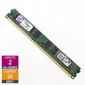 Barrette Mémoire 2Go RAM DDR3 Kingston KTH9600BS/2G DIMM PC3-10600U 1Rx8 LP