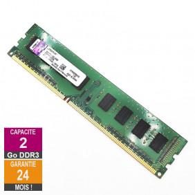 Barrette Mémoire 2Go RAM DDR3 Kingston KTH9600BS/2G DIMM PC3-10600U 1Rx8