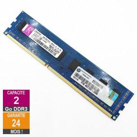 Barrette Mémoire 2Go RAM DDR3 Kingston HP497157-D88-ELFWG DIMM PC3-10600U 2Rx8