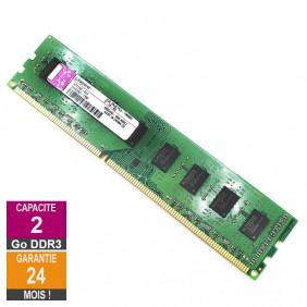 Barrette Mémoire 2Go RAM DDR3 Kingston KP223C-ELF DIMM PC3-10600U 2Rx8