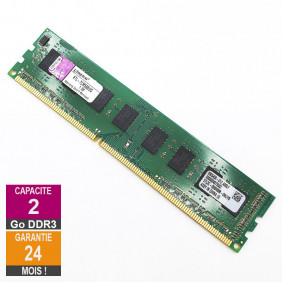Barrette Mémoire 2Go RAM DDR3 Kingston KTL-TCM58B/2G DIMM PC3-10600U 2Rx8