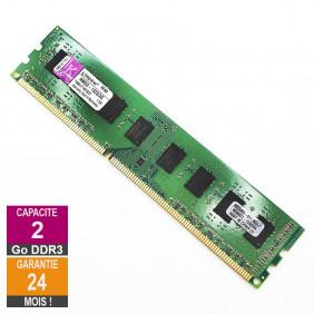 Barrette Mémoire 2Go RAM DDR3 Kingston RMD3-1333/2G DIMM PC3-10600U 2Rx8