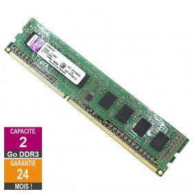 Barrette Mémoire 2Go RAM DDR3 Kingston KTD-XPS730BS/2G DIMM PC3-10600U 1Rx8