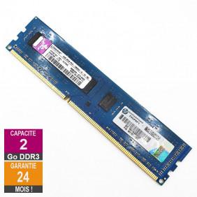 Barrette Mémoire 2Go RAM DDR3 Kingston HP497157-D01-ELFWG DIMM PC3-10600U 2Rx8