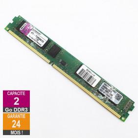 Barrette Mémoire 2Go RAM DDR3 Kingston KTL-TCM58B/2G DIMM PC3-10600U 2Rx8 LP