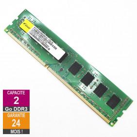 Barrette Mémoire 2Go RAM DDR3 Elixir M2Y2GH64CB8HG6N-CG DIMM PC3-10600U 2Rx8