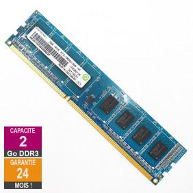 Barrette Mémoire 2Go RAM DDR3 Ramaxel RMR1810EC58E8F DIMM PC3-10600U 1Rx8
