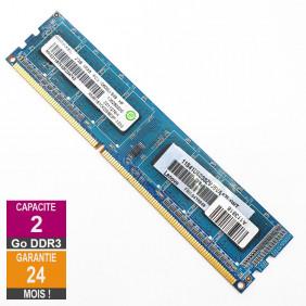 Barrette Mémoire 2Go RAM DDR3 Ramaxel RMR1810KD58E8F DIMM PC3-10600U 1Rx8