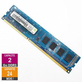 Barrette Mémoire 2Go RAM DDR3 Ramaxel RMR5030MM58E8F DIMM PC3-12800U 1Rx8