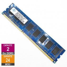 Barrette Mémoire 2Go RAM DDR3 Nanya NT2GC64B8HA0NF-BE DIMM PC3-8500U 2Rx8