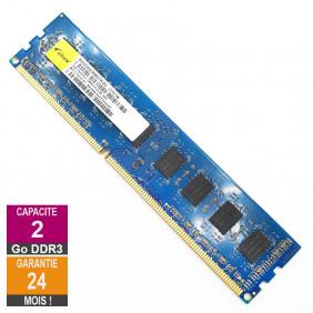Barrette Mémoire 2Go RAM DDR3 Elixir M2X2G64CB88G7N-DG DIMM PC3-12800U 1Rx8
