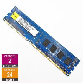 Barrette Mémoire 2Go RAM DDR3 Elixir M2F2G64CB88G4N-DI DIMM PC3-12800U 1Rx8