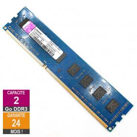 Barrette Mémoire 2Go RAM DDR3 Kingston ACR256X64D3U1333C9 DIMM PC3-10600U 2Rx8