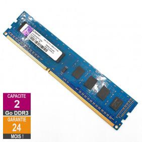 Barrette Mémoire 2Go RAM DDR3 Kingston ACR256X64D3U13C9G DIMM PC3-10600U 1Rx8