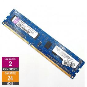 Barrette Mémoire 2Go RAM DDR3 Kingston ACR256X64D3U16C11G DIMM PC3-12800U 1Rx8