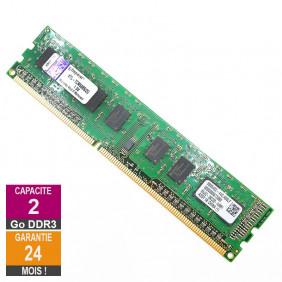 Barrette Mémoire 2Go RAM DDR3 Kingston KTL-TCM58BS/2G DIMM PC3-10600U 1Rx8