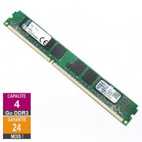 Barrette Mémoire 4Go RAM DDR3 Kingston KTH9600BS/4G DIMM PC3-10600U 2Rx8 LP