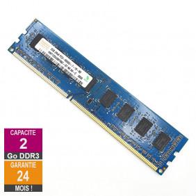 Barrette Mémoire 2Go RAM DDR3 Hynix HMT125U6BFR8C-G7 DIMM PC3-8500U 1Rx8