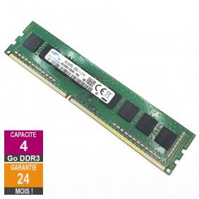 Barrette Mémoire 4Go RAM DDR3 Samsung M378B5173QH0-YK0 DIMM PC3L-12800U 1Rx8