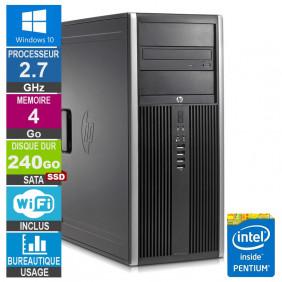PC HP Elite 8200 CMT G630 2.70GHz 4Go/240Go SSD Wifi W10