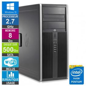 PC HP Elite 8200 CMT G630 2.70GHz 8Go/500Go Wifi W10
