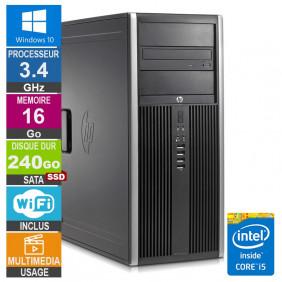 PC HP Elite 8200 CMT i5-2400 3.40GHz 16Go/240Go SSD Wifi W10