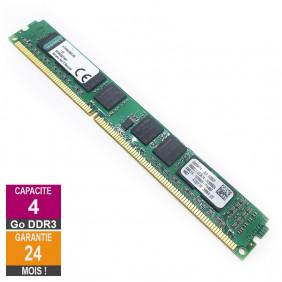 Barrette Mémoire 4Go RAM DDR3 Kingston KTH9600BS/4G DIMM PC3-10600U 1Rx8 LP