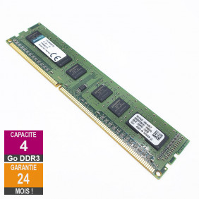Barrette Mémoire 4Go RAM DDR3 Kingston KVR13N9S8H/4 DIMM PC3-10600U 1Rx8