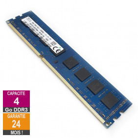 Barrette Mémoire 4Go RAM DDR3 Hynix HMT351U6EFR8A-PB DIMM PC3-12800U 2Rx8