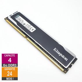 Barrette Mémoire 4Go RAM DDR3 Kingston KHX16C9B1B/4 DIMM PC3-12800U 1Rx8