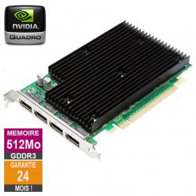 Carte graphique Nvidia Quadro NVS 450 512Mo GDDR3 4x DisplayPort HP 490565-003