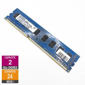 Barrette Mémoire 2Go RAM DDR3 Elpida EBJ21UE8BDF0-AE-F DIMM PC3-8500U 2Rx8