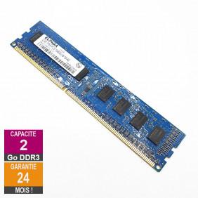 Barrette Mémoire 2Go RAM DDR3 Elpida EBJ20UF8BCF0-DJ-F DIMM PC3-10600U 1Rx8