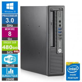 PC HP 800 G1 USDT G3220 3GHz 8Go/480Go SSD Wifi W10