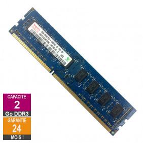 Barrette Mémoire 2Go RAM DDR3 Hynix HMT125U6TFR8C-H9 PC3-10600U 1333MHz 2Rx8