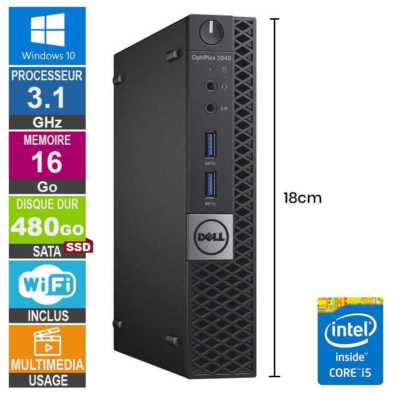 PC Dell 3040 Micro i5-6500T 3.10GHz...