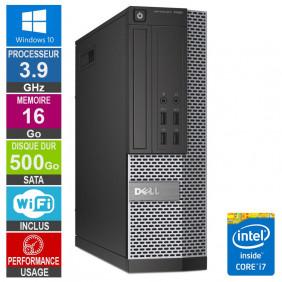 PC Dell 7020 SFF i7-4770 3.90GHz 16Go/500Go Wifi W10