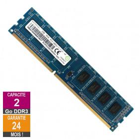 Barrette Mémoire 2Go RAM DDR3 Ramaxel RMR5030ED58E8W-1600 PC3-12800U 1600MHz 1Rx8