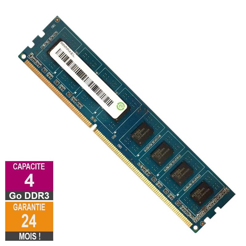 Barrette Mémoire 4Go RAM DDR3 Ramaxel...